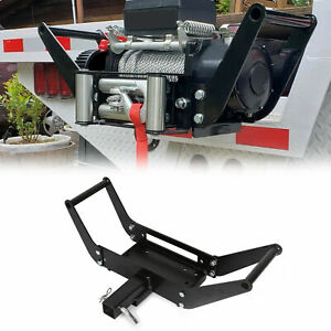 Foldable Winch Mounting Plate Cradle Mount For 2 Hitch Receiver 4wd Suv Truck