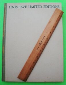 1931 Linweave Limited Editions Rare Artworks Paper Printing Specimens H c Book