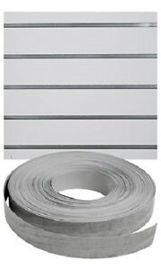 Vinyl Inserts Slatwall Panel Silver Shelving Display 130 Ft 3 Rolls Decorative