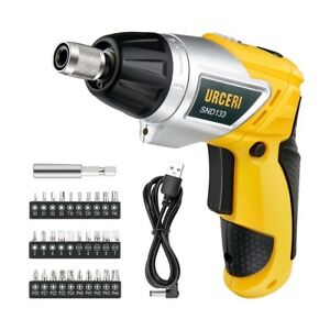 Electric Screwdriver Cordless Rechargeable Hand Screw Gun Drill Lithium Battery