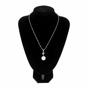 10pc Black Velvet Jewelry Bust Pendant Necklace Showcase Display Holder Stand