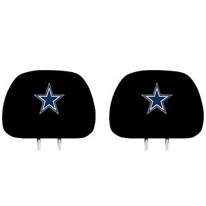 New Football Embroidered Dallas Cowboys Head Rest Covers Licensed By Fanmat