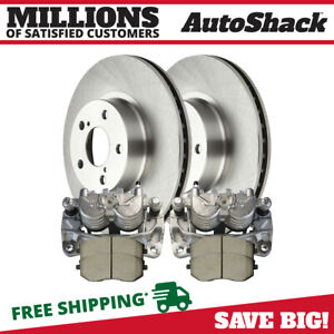 Front Brake Calipers Ceramic Pads Rotors Kit For Subaru Outback Forester Legacy