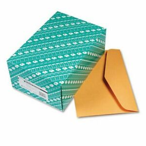 Quality Park Open Side Booklet Envelope 15 X 10 Brown 100 Per Box qua54301
