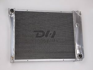 Polish 3 Rows Aluminum Radiator For 1968 1974 Chevy Nova 1970 1981 Chevy Camaro