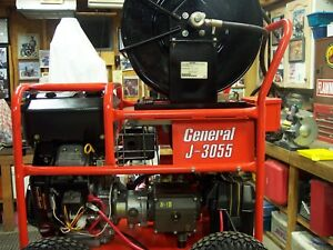 General J3055 Water Jetter Drain Sewer Cleaner 16hp 3000 Psi
