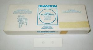 Box Of 200 Shandon 190005 Thick White Cytospin Filter Cards