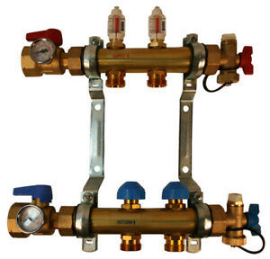 Rehau Pro balance Radiant Floor Heat Manifold For Pex Pipe 2 Circuit