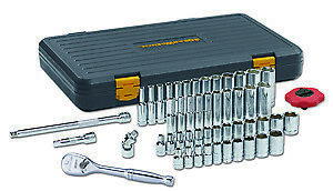 Gearwrench Kd 80300p 51 Pc 1 4 Drive Sae Metric 6 Pt Standard Deep Socket Set