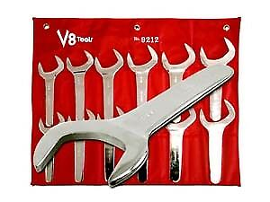 V8 Tools Inc 9212 12 Piece Jumbo Service Wrench Set 1 11 16 To 2 5 8