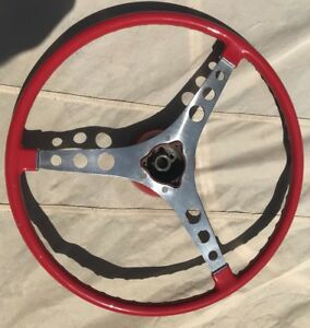 Restored Corvette Steering Wheel With Hub 1956 1957 1958 1959 1960 1961 1962