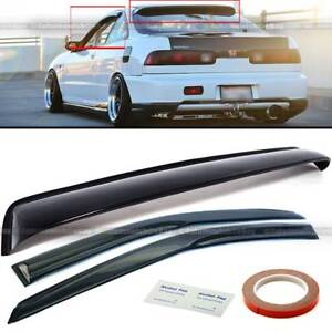 Fit 94 01 3rd Gen Integra Dc Window Visors Rear Windshield Roof Visor Combo