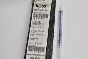 Draeger Rohrchen 8103251 Hydrogen Fluoride Detector Tubes 10 Pack