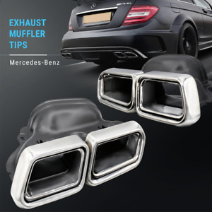 Exhaust Tips Muffler End Fit For Benz E Class W212 W204 W216 W218 W219 W207 Amg