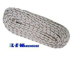 All Gear 1 2 X 200 Forestry Pro 12 Strand Rope White W Red Tracer 7300lb