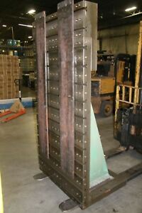 Used T Slotted Angle Plate 41 3 4 W X 84 H 17734