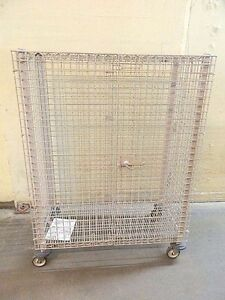 Metro Heavy duty Mobile Rolling Security Storage Caged Cart 1600 Lb 68 X 51