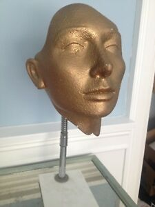 Gold Female Abstract Mannequin Head Display