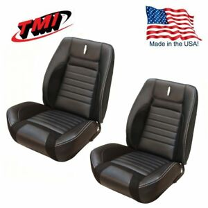 Sport R Deluxe Vinyl Front Bucket Seat Upholstery For 68 Camaro Tmi Made In Us