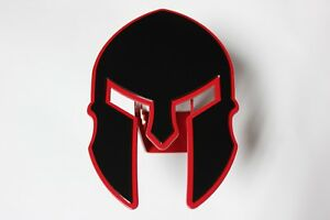 Gtg Red Spartan Warrior Helmet Hitch Cover Plug Trailer Ball Receiver Towing