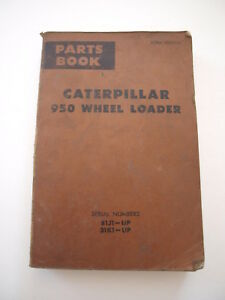 Caterpillar Cat 950 Front end Wheel Loader Parts Book Catalog Manual List 71