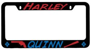 Harley Quinn Logo Design 1 Black Metal License Plate Frame