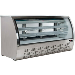 New Xiltek 82 Commercial Refrigerated Curved Glass Display Deli Case