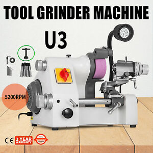 U3 Universal Tool Cutter Grinder Machine Tool Cutting 5 Collets Low Noise Great