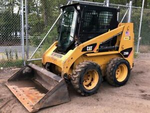 2008 Caterpillar Cat 226b2 Rubber Tire Skid Steer Turbo Diesel Enclosed W Forks