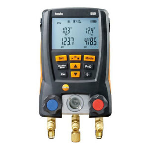 Testo 550 Rsa Kit Digital Manifold For Refrigeration Systems Clamp Probe