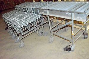 Nestaflex 275 Flexible Conveyor Lot X2 24 X 18 36 Total Extra Roller