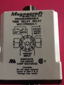 magnecraft Programmable Time Delay Relay W211progx 1 From 0 1sec To 4m New