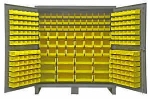 240 Bins Welded Steel Bolt Screw Parts Bin Fastener Cabinet Storage Compartment