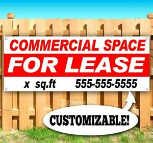 Commercial Space For Lease Custom Sq Footage Advertising Vinyl Banner Flag Sign