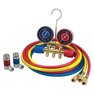 Robinair 45111 A c R 134a Manifold Gauge Set With 72 Hose And Couplers