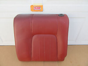 07 Tiburon Rear Seat Back Upper Top Driver Left L Lh Lr Car Red Orange Oem Oe