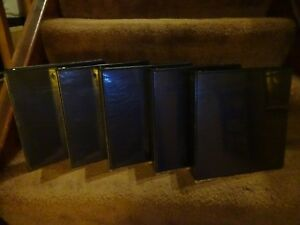 5 3 Ring 2 Black Vinyl Binders With 2 Pockets With Sleeves On Front And Back