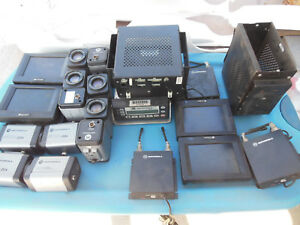 Lot Of Police Cameras Screens Mic Boxes