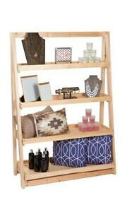 A frame Wood Display 4 Tier Shelf 42 X 16 X 60 Retail Display Merchandise