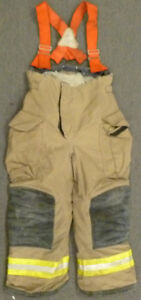 32s Pants Firefighter Turnout Bunker Fire Gear Suspenders Janesville Lion P935