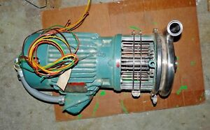 Tri clover Inc C218mdg18t s Centrifugal Pump W Reliance 31gp18101701g14vx Motor