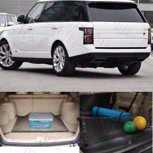2x Car Trunk Cargo Organizer Plain And Vertical Nets For Land Rover Range Rover