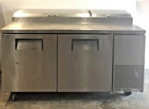 True Tpp 67 Pizza 67 Prep Table Refrigerator Cooler Station Nice Working Unit
