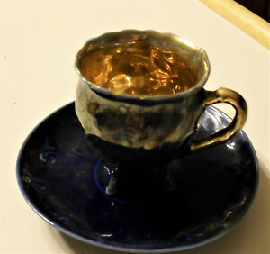 Antique Hand Painted Demitasse Cup And Saucer
