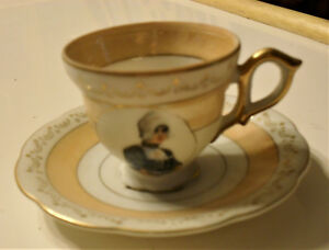 Antique Cup And Saucer Hand Painted