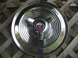 One 1963 1964 Ford Galaxie 500 Xl 427 Hp Spinner Hubcap Wheel Cover Center Cap
