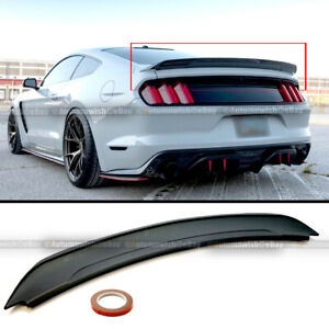 Unpainted Track Pack Style Rear Trunk Wing Spoiler For 15 20 Mustang 2dr Coupe