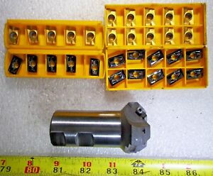 New Everede 45 Chamfer Mill 1 1 4 Dia Shank 30 Apxx 1604 53x Carbide Inserts