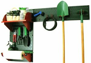 Garage Shelf Organizer Pegboard Shed Garden Storage Bench Janitorial Cleaning