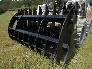 72 Extreme Duty Root Rake Clam Talon Grapple Skid Steer Attachment Ship 199